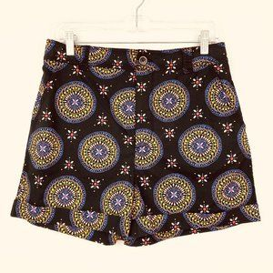 ANTHROPOLOGIE MAEVE Abstract City Black Shorts NWT
